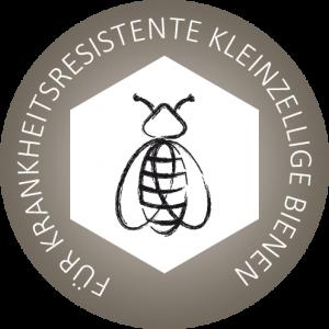Logo FÜR KRANKHEITSRESISTENTE KLEINZELLIGE BIENEN rund